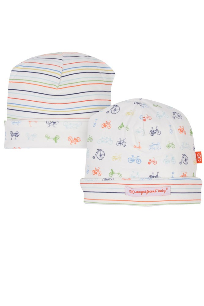 Magnetic Me™ by Magnificent Baby Boy Cotton Reversible Hat (Boys Bikes for Tykes)