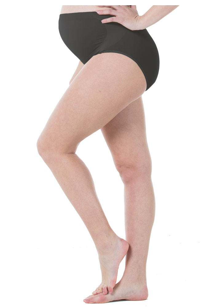 Mavis Seamless Belly Support Maternity Panty (Black)