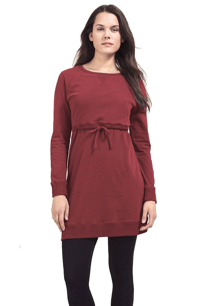 Boob Design B-Warmer Organic Cotton Maternity & Nursing Dress (Pompei Red)