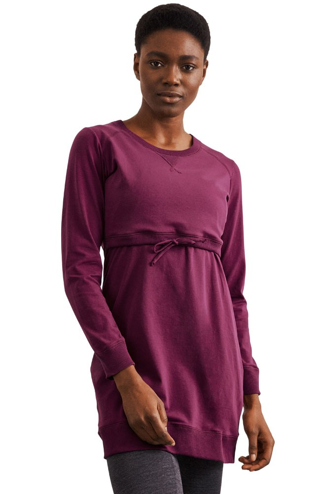 Boob Design B-Warmer Organic Cotton Maternity & Nursing Dress (Purple)