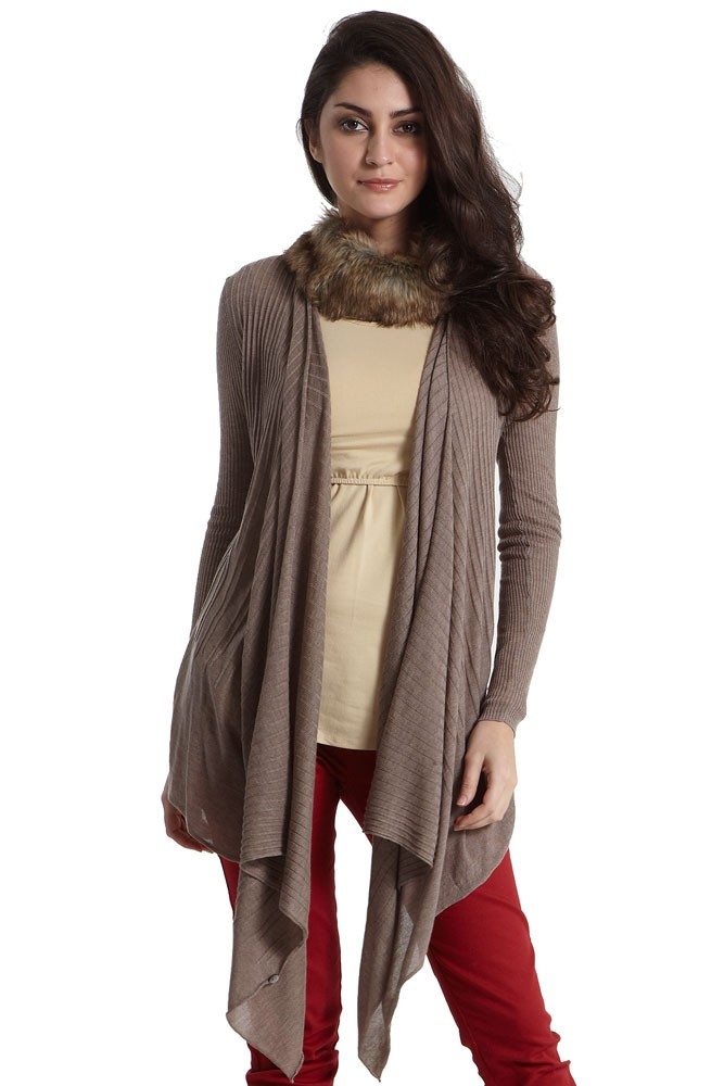 Quin Versatile Knitted Maternity & Nursing Wrap (Heather Khaki)