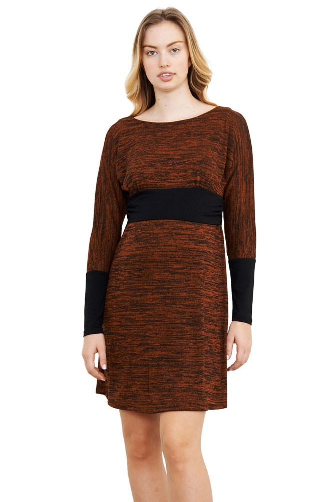 Naomi Boatneck Knitted Nursing Dress (Rust)