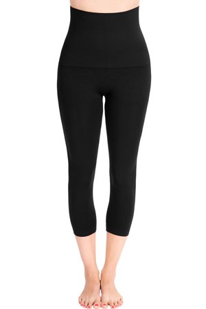 Mother Tucker® Capri Leggings by Belly Bandit (Black)