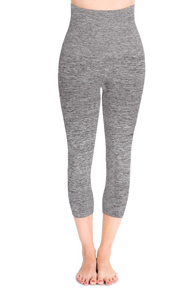 Mother Tucker® Capri Leggings by Belly Bandit (Dark Heather Grey)