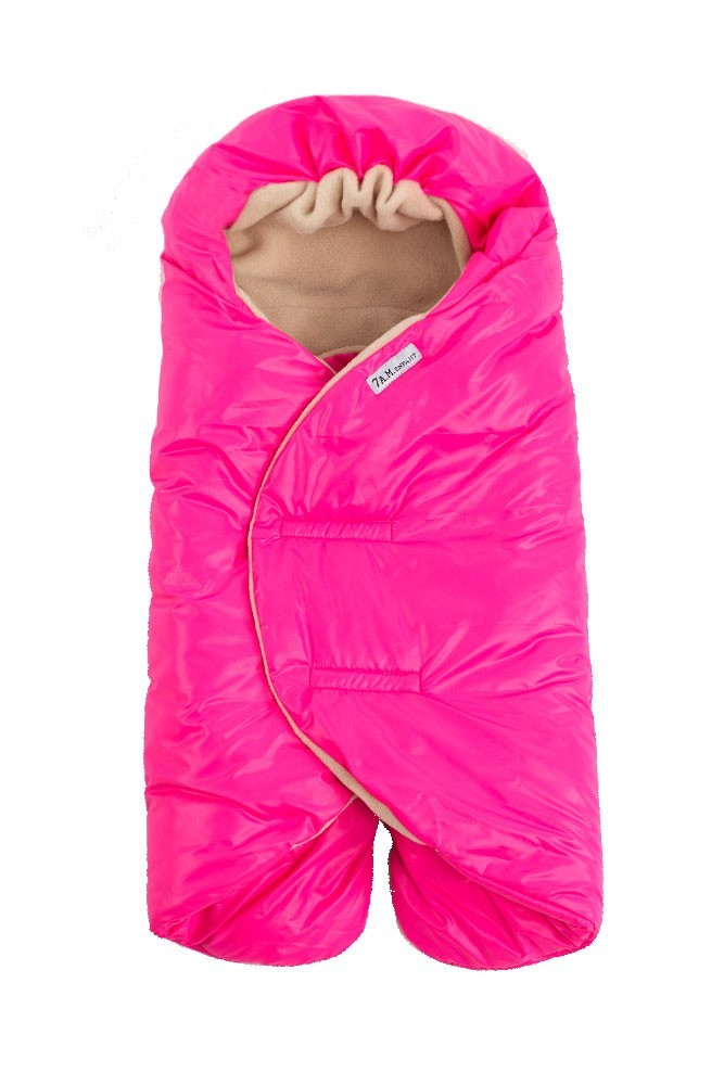 7 A.M. Enfant Nido Quilted Car-seat Baby Wrap - Large (Neon Pink)