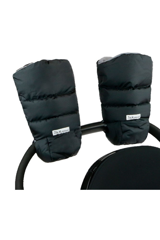 7 A.M. Enfant Warmmuffs Stroller Handle Mittens (Black)