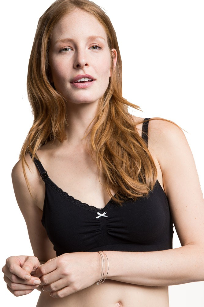 Boob Design Fast Food Organic Nursing Bra (Black)