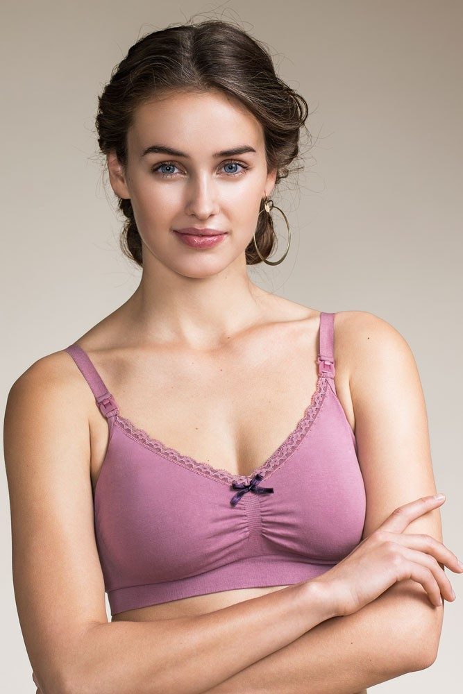 Boob Design Fast Food Organic Nursing Bra (Rainy Rose)