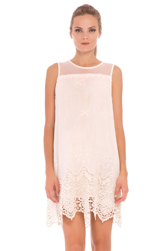 Olian Bianca Lace Maternity Dress (Ivory)
