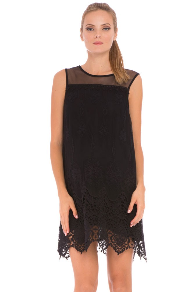 Olian Bianca Lace Maternity Dress (Black)