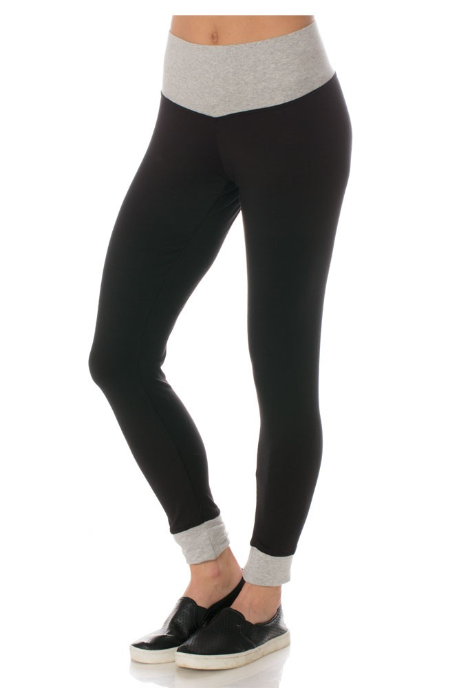 Majamas JoJo Legging (Black with Grey Trim)