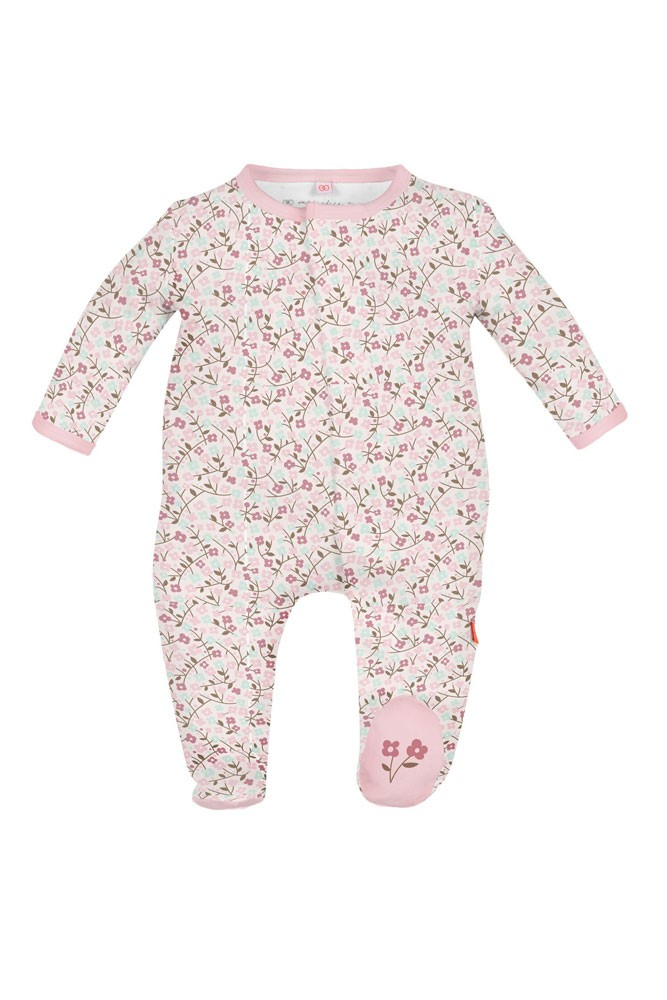 Magnetic Me™ by Magnificent Baby Bedford Floral Cotton Footie (Bedford Floral Print)