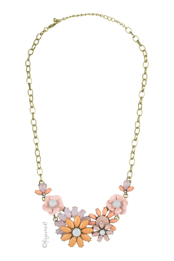Christina Pastel Flower Necklace (Pastel)