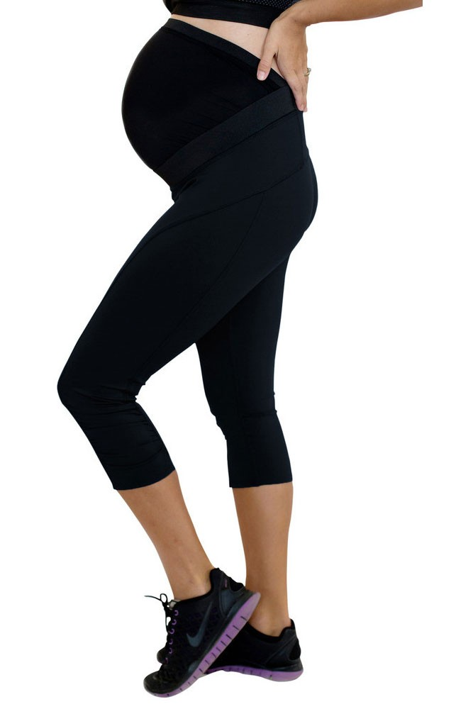 Move Workout Active Capri with Mumband Support (Black)