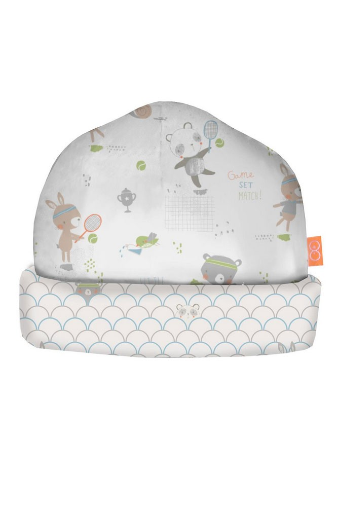 Magnetic Me™ by Magnificent Baby Boy Cotton Reversible Hat (Blue Tennis Print)