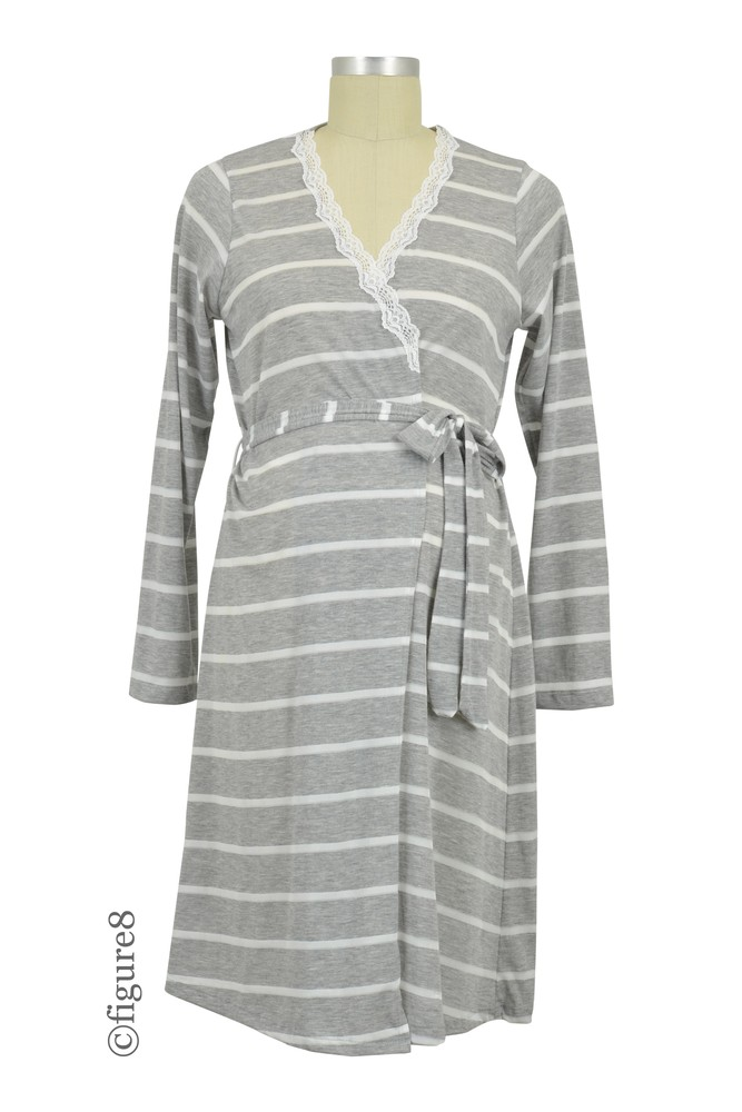Belabumbum Heather Stripes Robe (Grey Stripes)