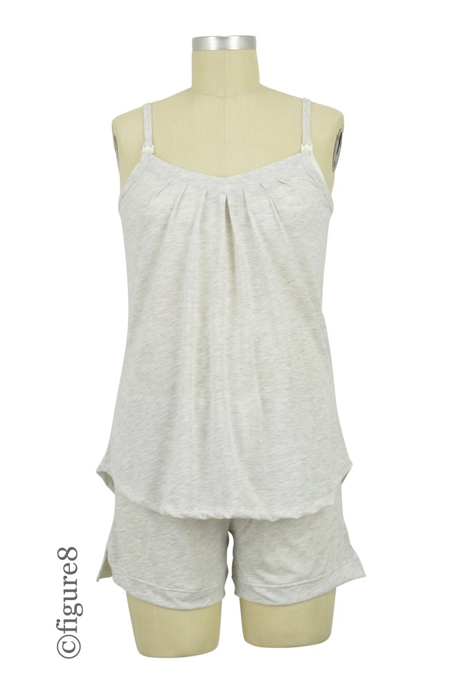 Belabumbum Summer Nursing Cami and Short Set (Oatmeal)
