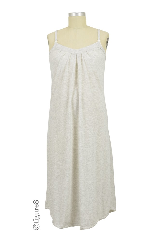 Belabumbum Summer Long Nursing Chemise (Oatmeal)
