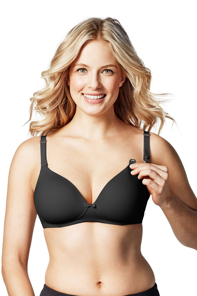 Bravado! Designs Buttercup Wireless Maternity & Nursing T-Shirt Bra (Black)