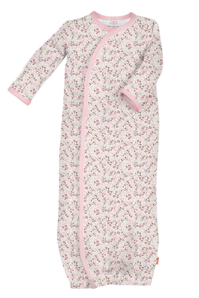 Magnetic Me™ by Magnificent Baby Cotton Girl's Bedford Floral Gown (Bedford Floral)