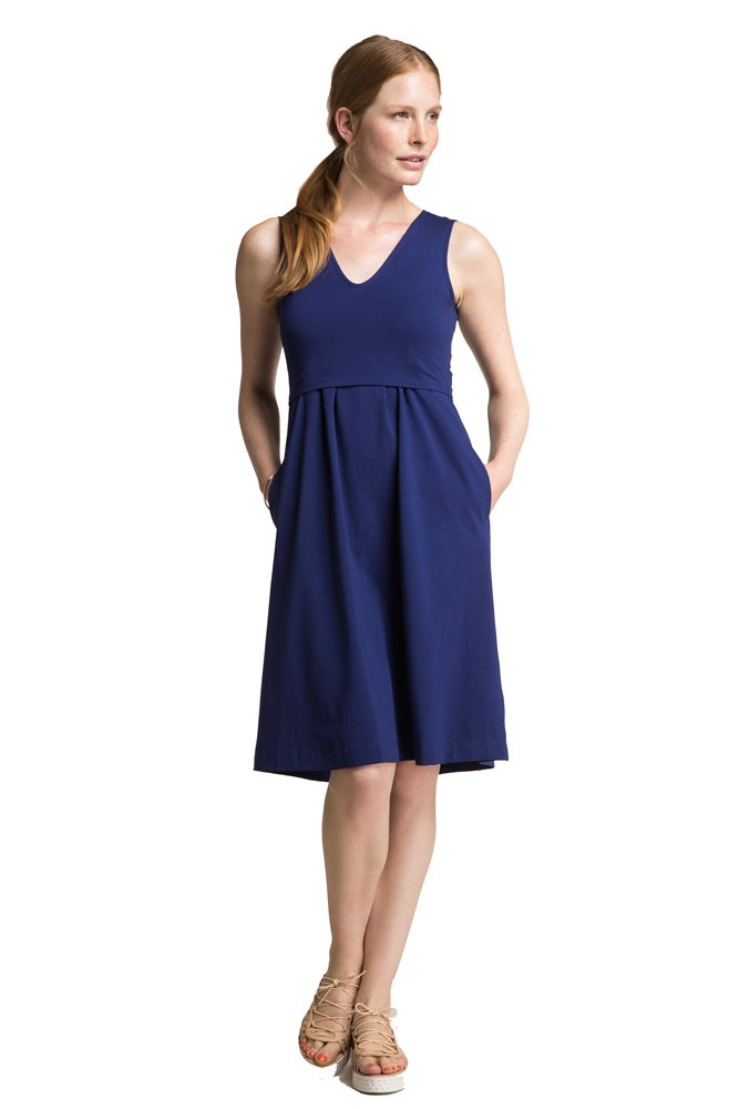 Boob Design Limited Edition Tilda Organic Maternity & Nursing Dress (Cobalt)