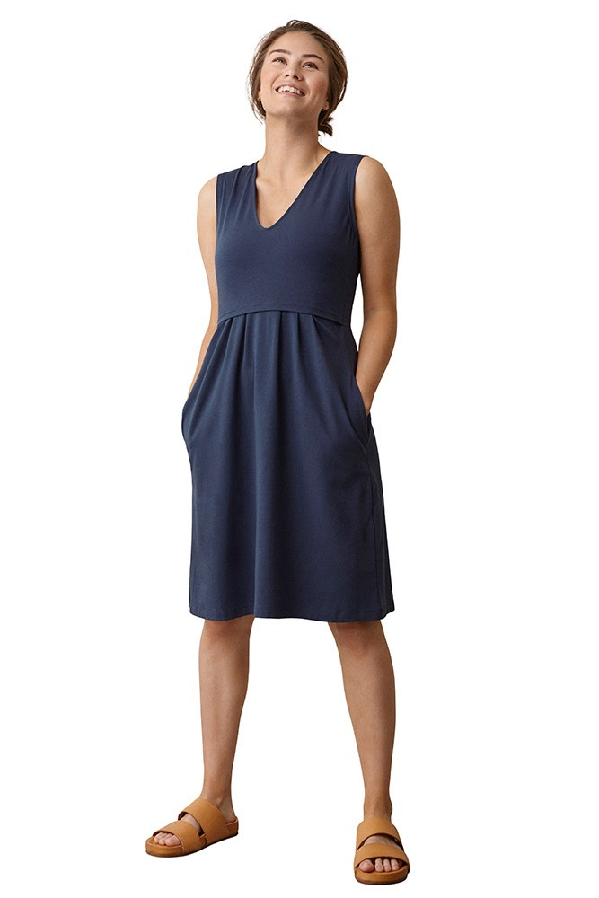 Boob Design Tilda Organic Maternity & Nursing Dress (Thunder Blue)