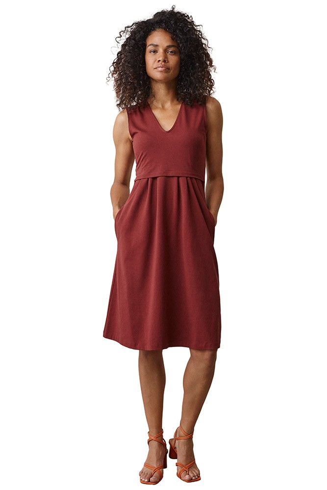 Boob Design Tilda Organic Maternity & Nursing Dress (Port Red)