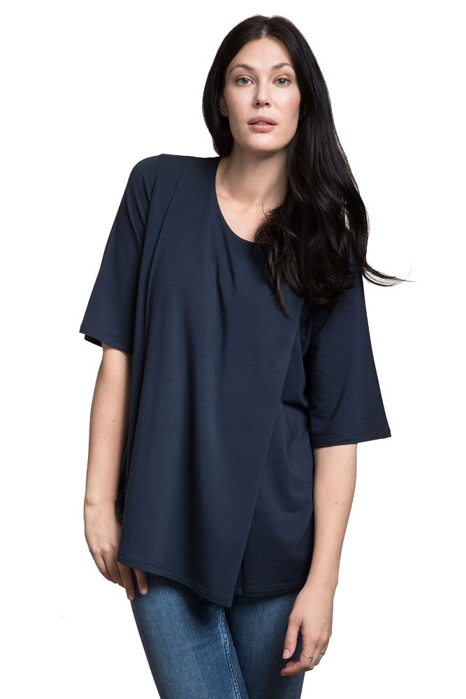 Boob Design Speakeasy Maternity & Nursing Top (Midnight Blue)