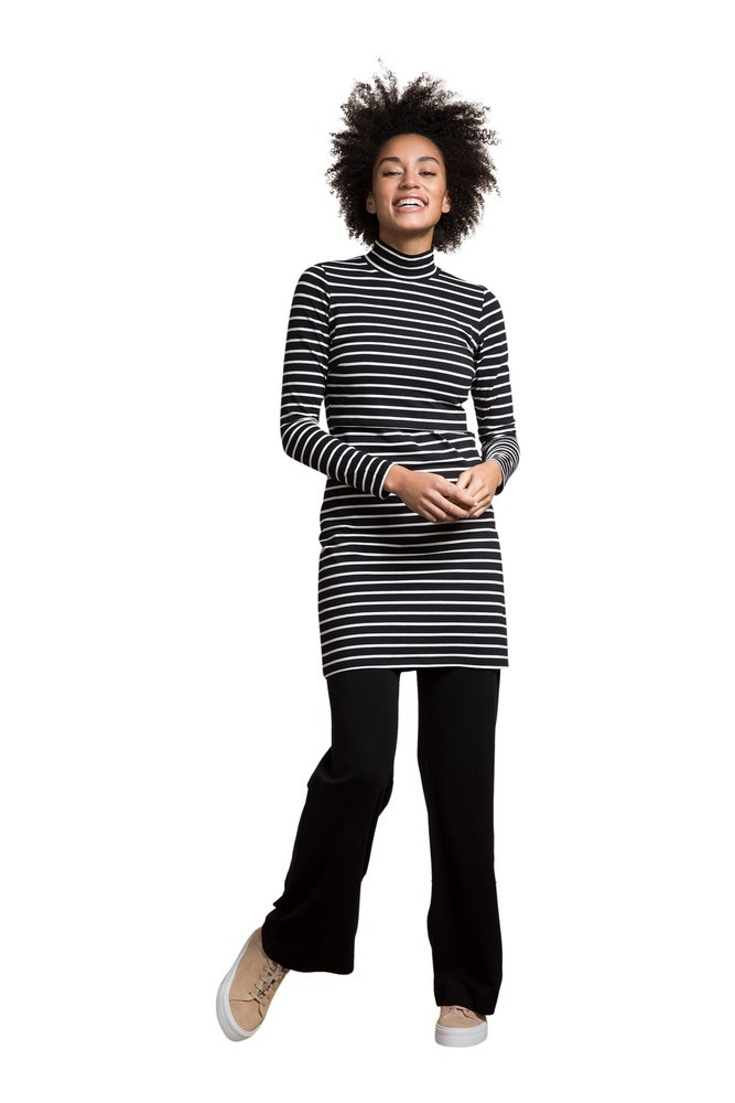 Boob Design Simone Organic Maternity & Nursing Tunic- Dress (Black/Tofu)