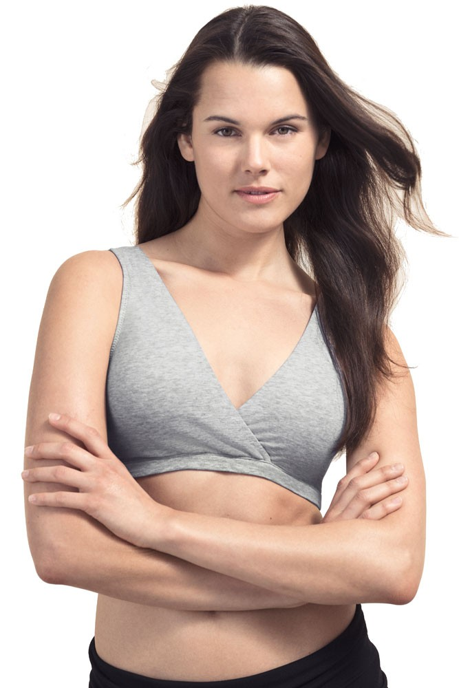 Boob Design 24/7 Maternity & Nursing Sleep Bra (Grey Melange)