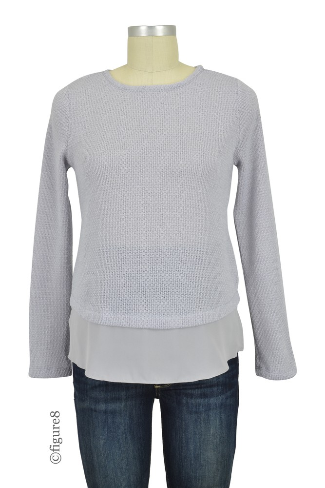 Cody Side Zipper Nursing Sweater (Grey)