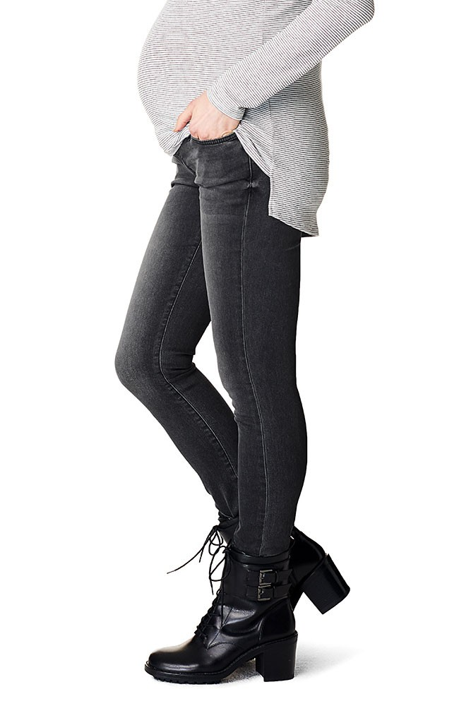Holly Over-the-Belly Feathersoft Skinny Maternity Jean (Grey Denim)