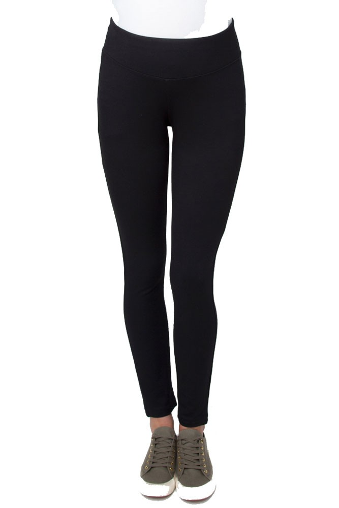 Lexi Ponte Maternity Legging (Black)