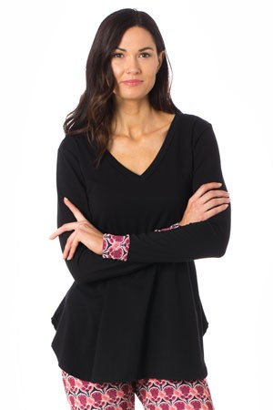 Majamas Soiree Maternity & Nursing Top (Black)