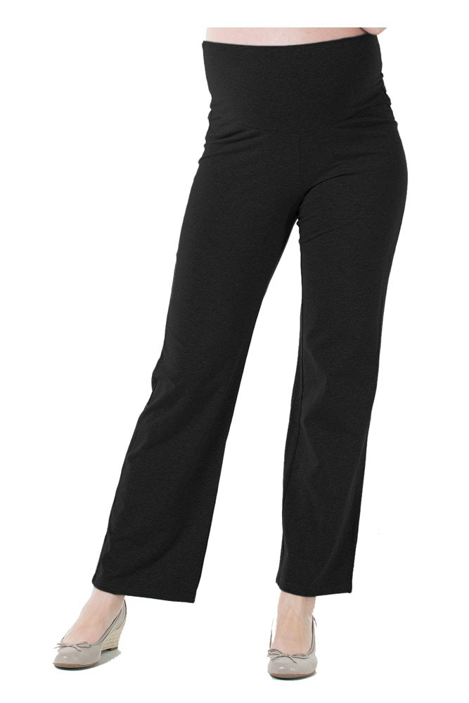 Anti-Mosquito Permethrin Treated Relaxed Maternity Pant (Black)