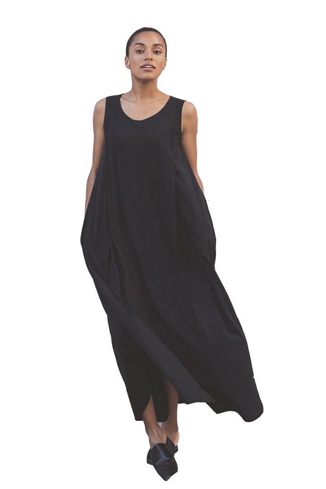 Boob Design Air Long Organic Maternity & Nursing Dress (Black)