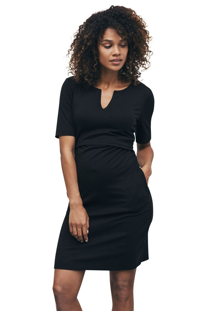 Boob Design LBD Audrey Lightweight Ponte Maternity & Nursing Tunic (Black)