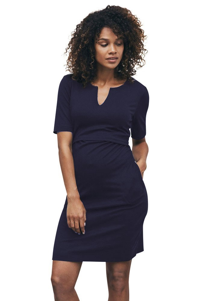 Boob Design LBD Audrey Lightweight Ponte Maternity & Nursing Tunic (Midnight Blue)