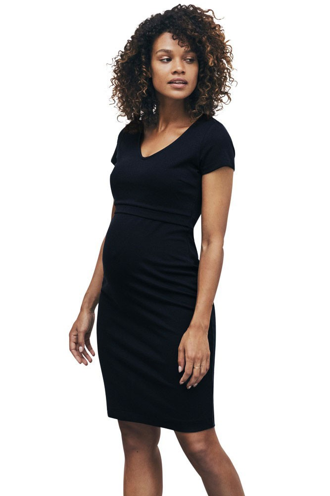 Boob Design LBD Audrey Lightweight Ponte Maternity & Nursing Dress (Black)