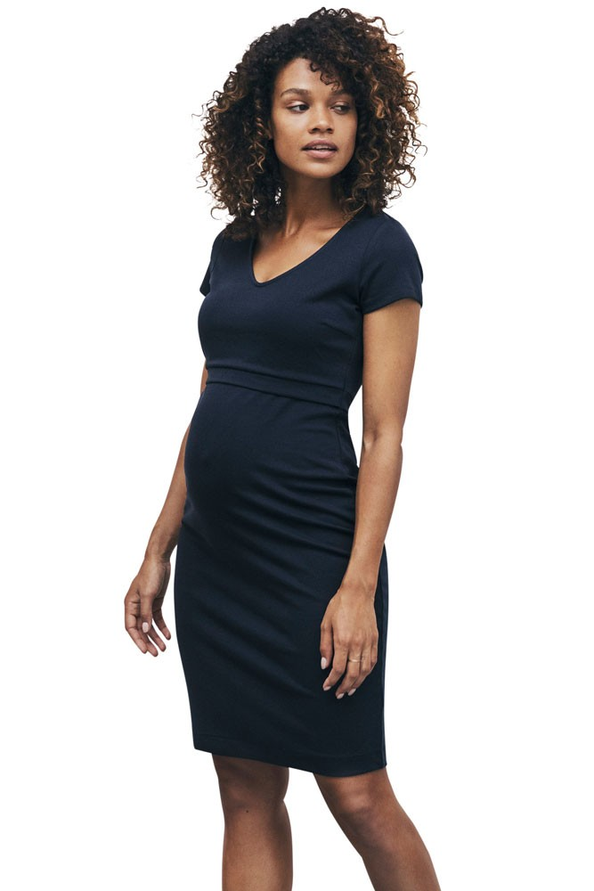 Boob Design LBD Audrey Lightweight Ponte Maternity & Nursing Dress (Midnight Blue)