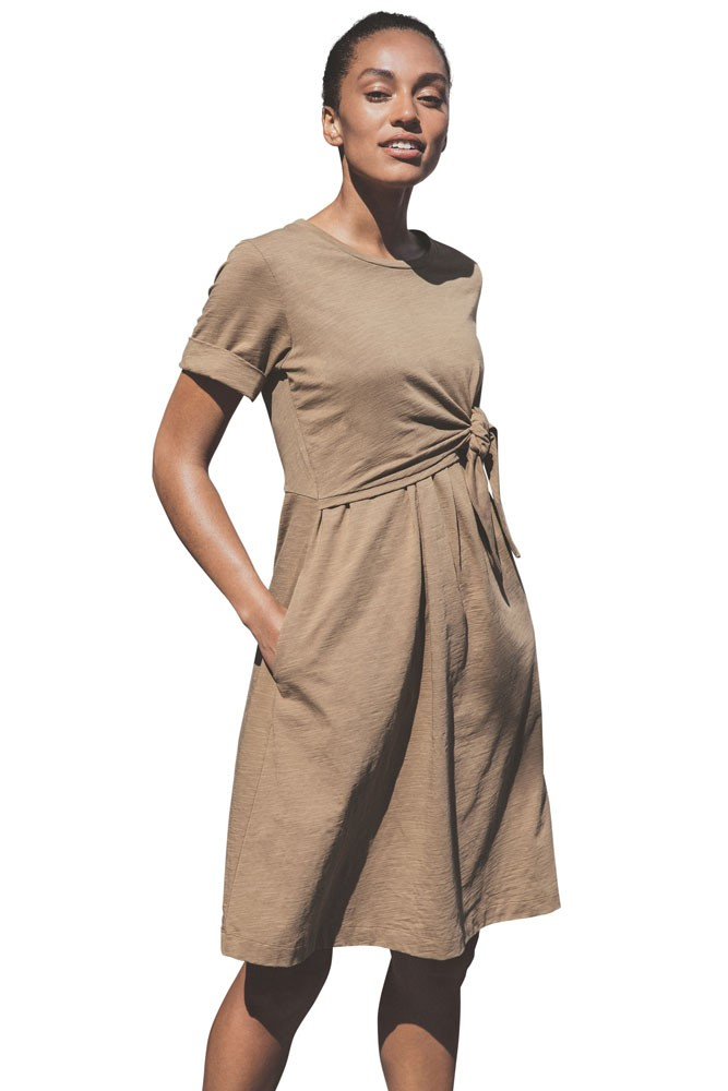 Boob Design Suki Organic Cotton Slub Maternity & Nursing Dress (Brown Sugar)