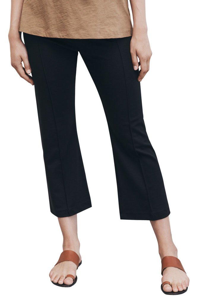 Boob Design Once-on-Never-Off Kick Flare Maternity Trousers (Black)