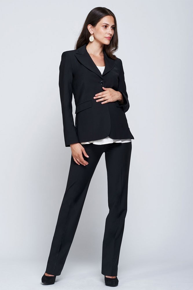 Slacks & Co. Classic Maternity 3-pc. Suit Set (Black)