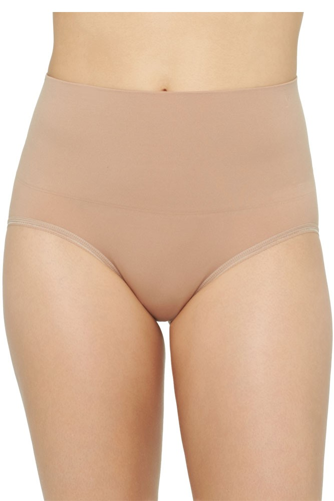 Yummie Seamlessly Shaped Ultralight Nylon Brief (Almond)