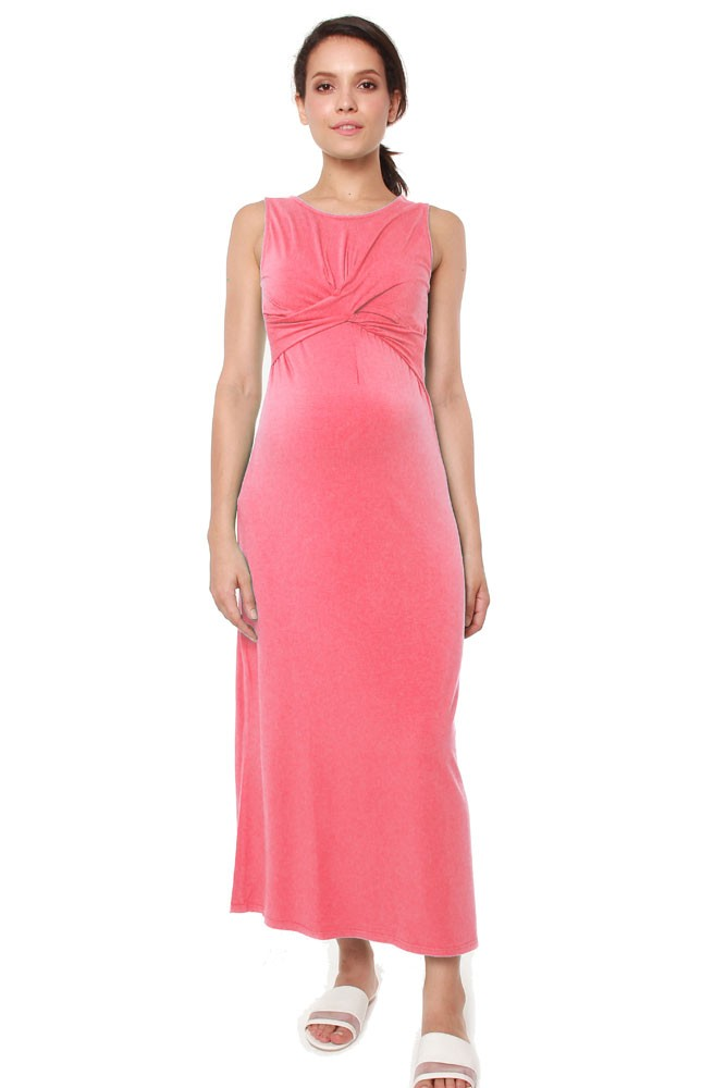 Chiyo Bamboo Maternity & Nursing Maxi Dress (Tulip)