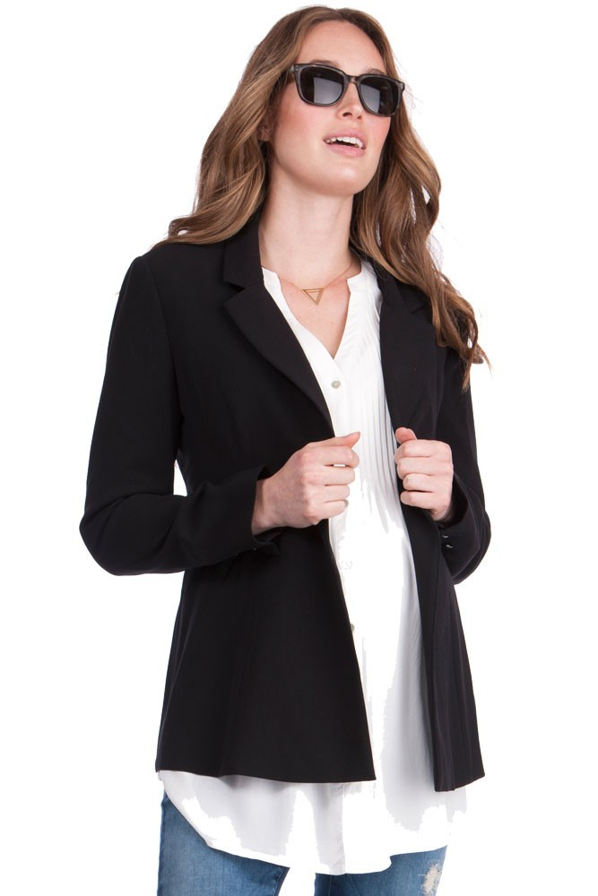 Seraphine Classic Ponte Maternity 3-pc. Suit Set (Black)