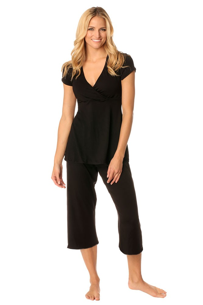 Majamas Cropped MJ 2-pc. PJ Set (Black)