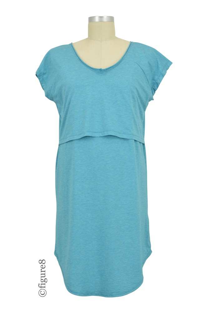 Skylar Nursing Night Shirt (Teal Slub)