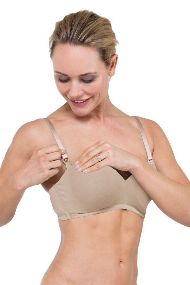 Marlie Bamboo Adjustable Straps with Flexible-Wireless Cup Nursing Bra (Nude)