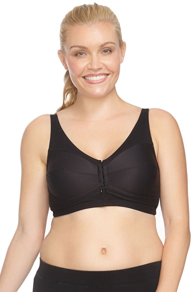Side Zip™ Nursing Bra with Stay Dry Cup Design (Black)